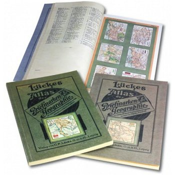 LÜCKES Atlas der Briefmarken-Geographie, Nachdruck der Jahre 1919 und 1921