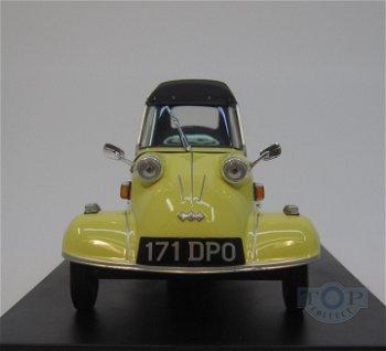 Modellauto:Messerschmitt KR 200 Kabinenroller, gelb(Oxford, 1:18)