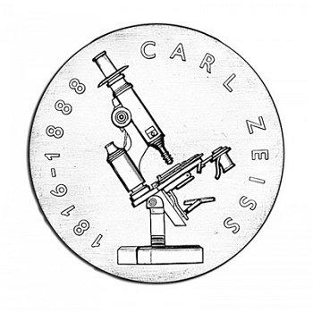 100. Todestag Carl Zeiss, 20-Mark-Münze 1988, DDR