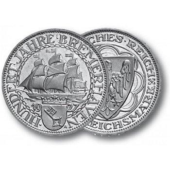 100 Jahre Bremerhaven, 3 Reichsmark, Jaeger-Nr. 325, Weimarer Republik