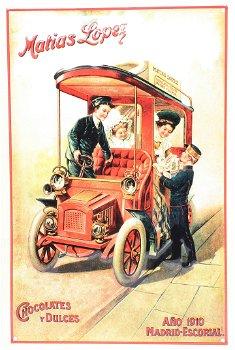 Blechschild:Matias Lopez - Chocolates y Dulces - 1910(20 x 30 cm)