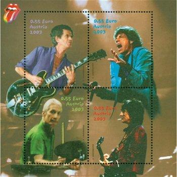 Rolling Stones - Briefmarken-Block Nr. 21 postfrisch, Österreich