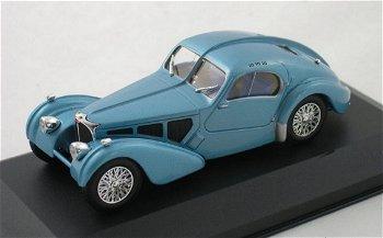 Modellauto:Bugatti 57 SC Atlantic von 1937, blau(WhiteBox, 1:43)