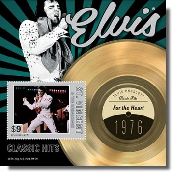 "Elvis Presley ""For the Heart"" - Briefmarken-Block postfrisch, St. Vincent & Grenadinen"