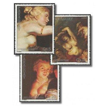 Rubens-Gemälde - 3 Briefmarken postfrisch, Katalog-Nr. 4164-4166, Paraguay