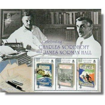 Charles Nordhoff & James Normann Hall, Briefmarken-Block postfrisch, Pitcairn