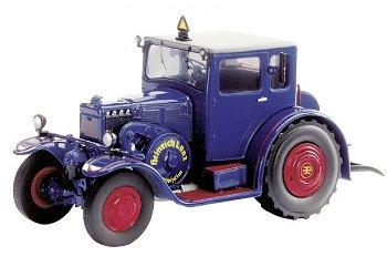 Modell-Traktor:Lanz Eilbulldog mit geschlossener Kabine, blau(Schuco 1:43)