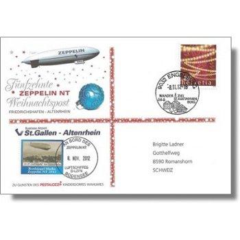 Zeppelin NT, Weihnachtspost 2012 - Beleg, Schweiz