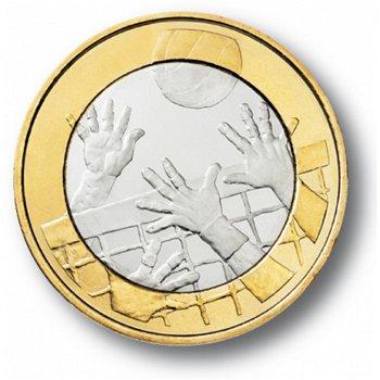 Es lebe der Sport - Volleyball, 5 Euro Münze, Finnland