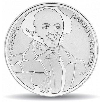 200. Geburtstag von Jeremias Gotthelf, 20 Franken Münze 1997, Stempelglanz