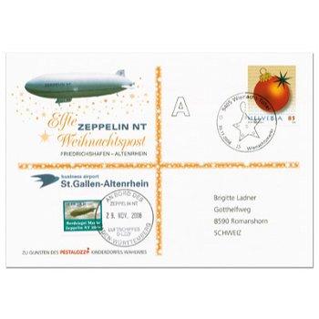 Zeppelin NT, Friedrichshafen - Altenrhein - Weihnachtspost 2008, Beleg, Schweiz