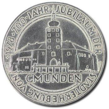 """100-Schilling-Münze """"700 Jahre Stadt Gmunden"""", Österreich"""