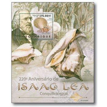220. Geburtstag Isaac Lea - Briefmarken-Block postfrisch, Mocambique