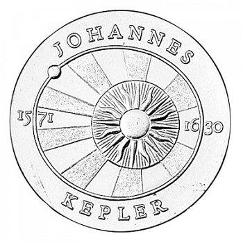 "5-Mark-Münze 1971 ""400. Geburtstag Johannes Kepler"", DDR"
