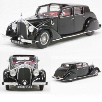 Modellauto:Voisin C28 Ambassade von 1936, schwarz(IXO Museum, 1:43)