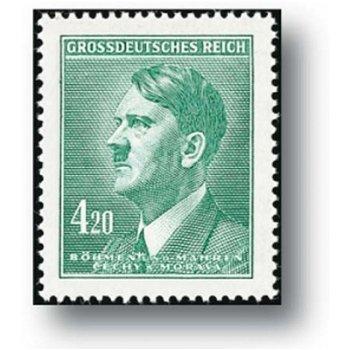 Die letzte Ausgabe - Briefmarke postfrisch, Katalog-Nr. 142, Böhmen und Mähren