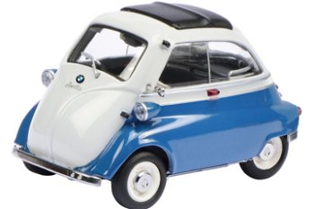 Modellauto:BMW Isetta Export, blau-grau(Schuco, 1:18)