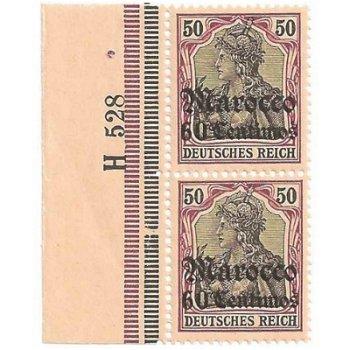 Deutsche Post Marokko - Katalog-Nr. 28 HN U H 528, senkrechtes Paar postfrisch