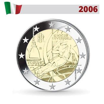 Olympische Winterspiele Turin, 2 Euro Münze 2006, Italien