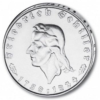 2 Reichsmark, 175. Geb. Friedrich Schiller, Katalog-Nr. 358, Drittes Reich