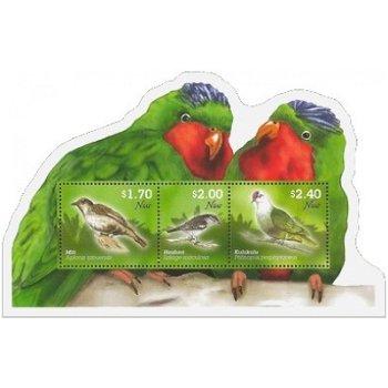 Vögel - Briefmarken-Block postfrisch, Katalog-Nr. 1185-1187, Niue