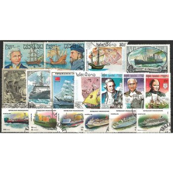 Schiffe und Boote - 500 verschiedene Briefmarken