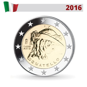 550. Todestag von Donatello, 2 Euro Münze 2016, Italien