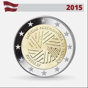 EU-Ratspräsidentschaft, 2 Euro-Münze 2015, Lettland