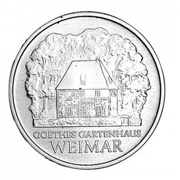 5-Mark-Münze 1982, Weimar: Gartenhaus von Johann Wolfgang von Goethe, DDR