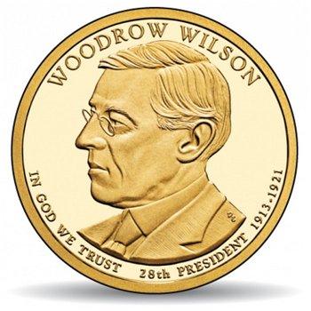 Woodrow Wilson, Präsidentendollar 2014, USA