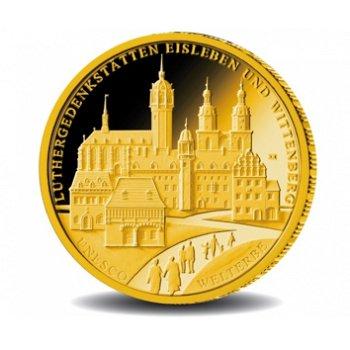 Luthergedenkstätten Eisleben und Wittenberg, 100 Euro Goldmünze 2017, Deutschland