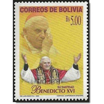 Papst Benedikt XVI. - Briefmarke postfrisch, Katalog-Nr. 1605, Bolivien