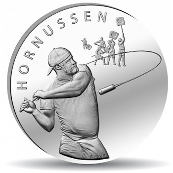 Schweizer Volkssportarten/Hornussen, 20 Franken Münze 2015 Schweiz, Stempelglanz