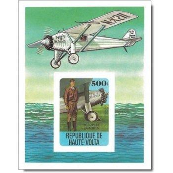Geschichte der Luftfahrt – Briefmarken-Block postfrisch, ungezähnt, Katalog-Nr. 711, Block 49, Oberv