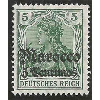 Deutsche Post Marokko - Briefmarke postfrisch, Katalog-Nr. 35