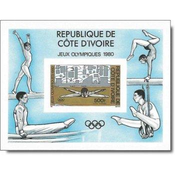 Olympische Sommerspiele Moskau 1980 - Briefmarken-Block ungezähnt postfrisch, Katalog-Nr. 653 Bl. 16