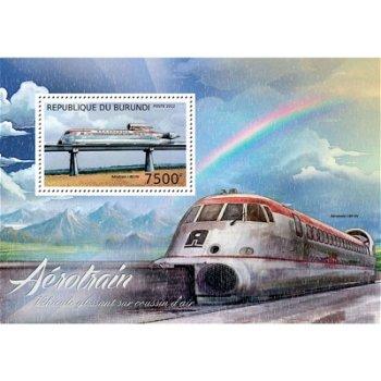 Eisenbahnen - Briefmarken-Block postfrisch, Katalog-Nr. 2942, Burundi