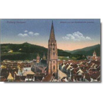Freiburg (7800) - Postkarte Münsterplatz