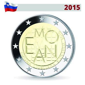 2000 Jahre römische Siedlung Emona, 2 Euro Münze 2015, Slowenien