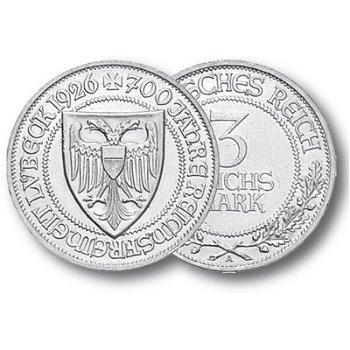 700 Jahre Reichsfreiheit Lübeck, 3 Reichsmark, Jäger-Nr. 323, Weimarer Republik