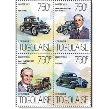 Henry Ford - 4 Briefmarken postfrisch, Togo