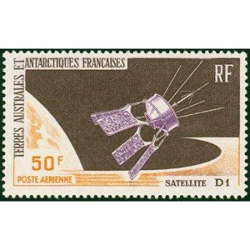 Franz. Satellit im Weltraum - Briefmarke postfrisch, Katalog-Nr. 35, TAAF