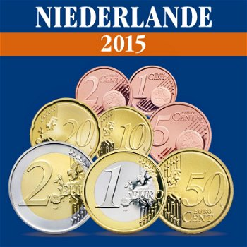 Niederlande - Kursmünzensatz 2015