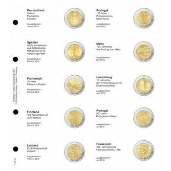 Lindner Vordruckblatt inkl. Münzblatt für 2 Euro-Gedenkmünzen: Deutschland Januar 2015 - Frankreich