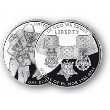 150 Jahre Ehrenmedaille - Silberdollar 2011, 1 Dollar Silbermünze, USA