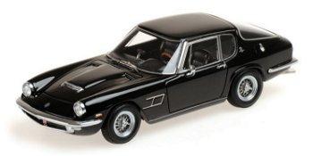 Modellauto:Maserati Mistral Coupé von 1963, schwarz(Minichamps, 1:43)