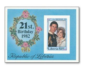 21. Geburtstag von Fürstin Diana von Wales - Briefmarken-Block ungezähnt, Katalog-Nr. 1251 / Bl. 101