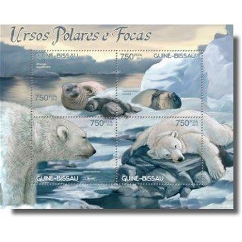 Polarbären & Robben - Briefmarken-Block postfrisch, Katalog-Nr. 6212-6215, Guinea-Bissau