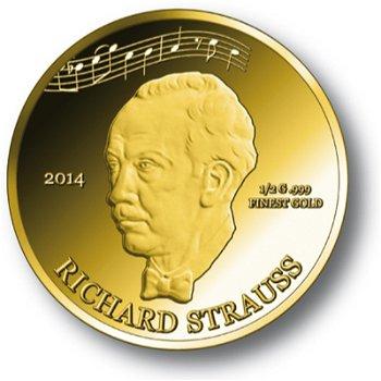 Richard Strauss, Goldmünze Elfenbeinküste, Polierte Platte