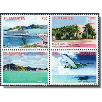 Landschaften 2013 - 4 Briefmarken im Zusammendruck, Sint Maarten